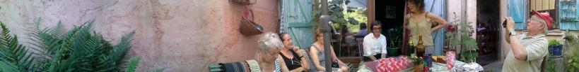 une journée autour de la rose trémière : aquarellistes à l'atelier de Micheline